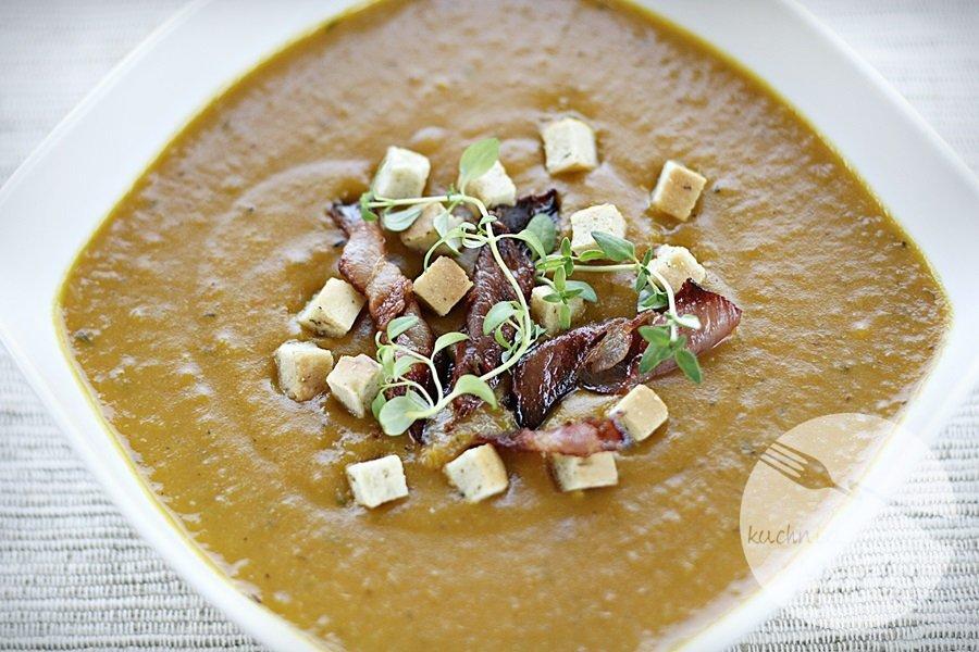 Zupa krem z pieczonej dyni na bogato