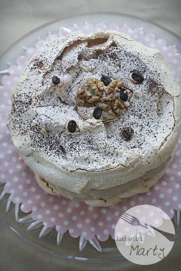 Kawowo orzechowy tort dacquoise