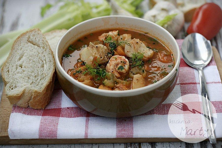 Pikantna zupa rybna z dorsza