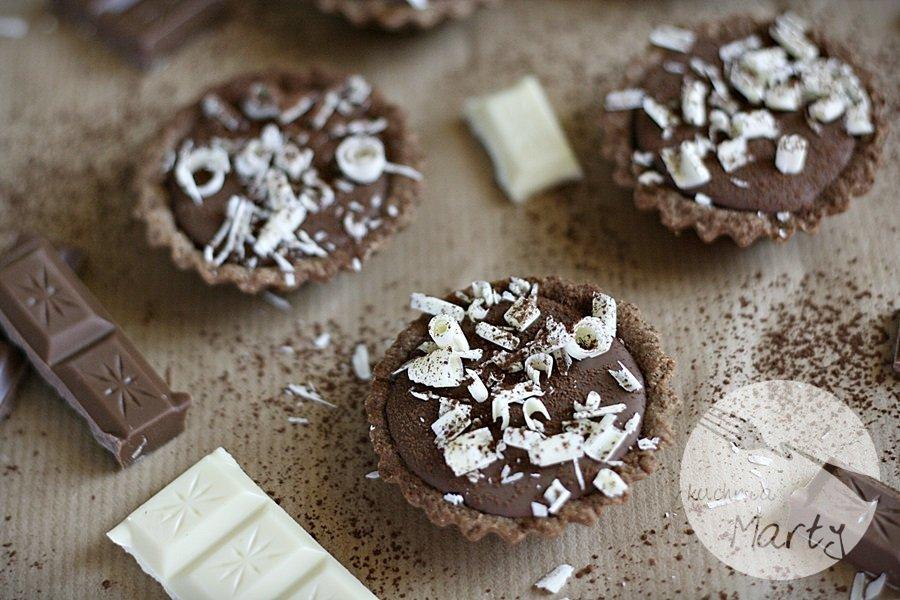 Karmelowe tartaletki z czekoladą