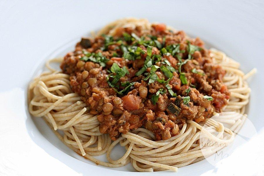 3958.900 - Spaghetti bolognese z zieloną soczewicą