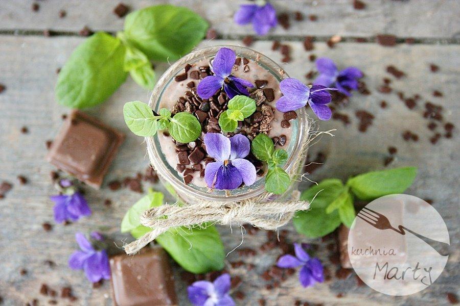 6722.900 - Czekoladowy pudding z chia z miętą