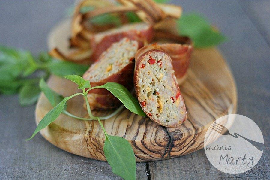 6866.900 - Roladki z mięsa mielonego z papryką i serem w szynce szwarcwaldzkiej