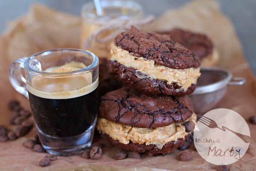Ciasteczka brownie z masłem orzechowym