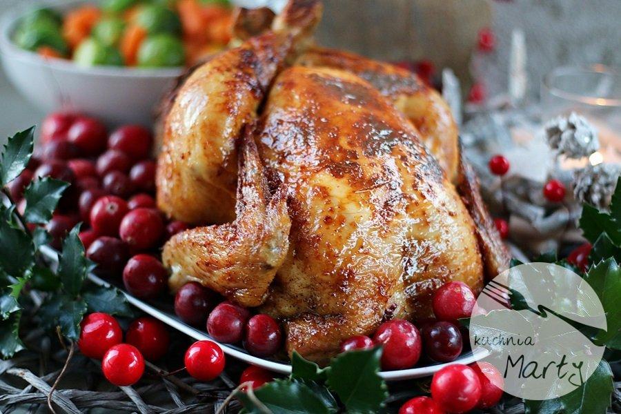 Pikantny kurczak nadziewamy kaszą i mięsem