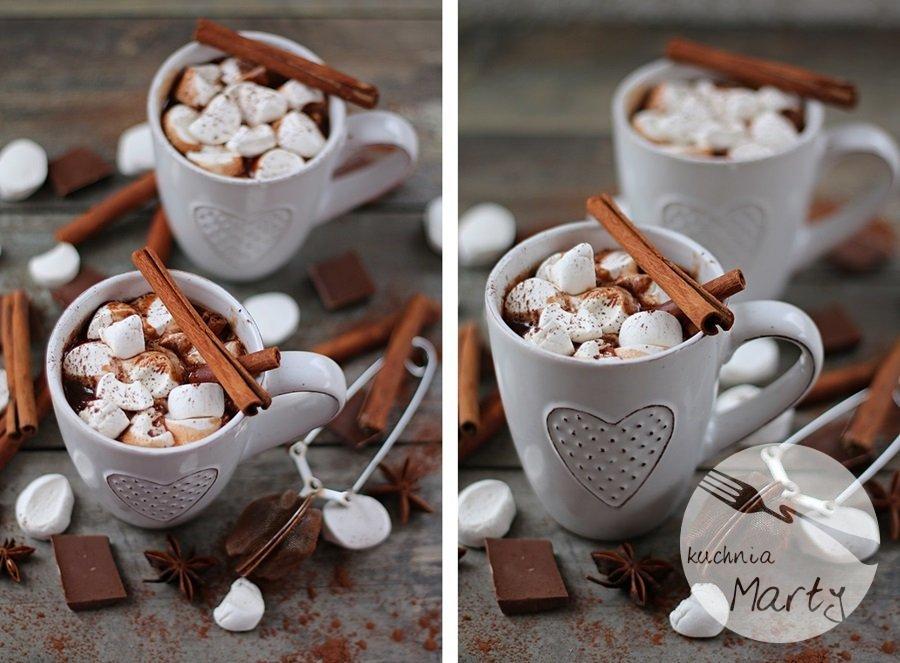5596 horz - Gorąca czekolada z cynamonem i piankami