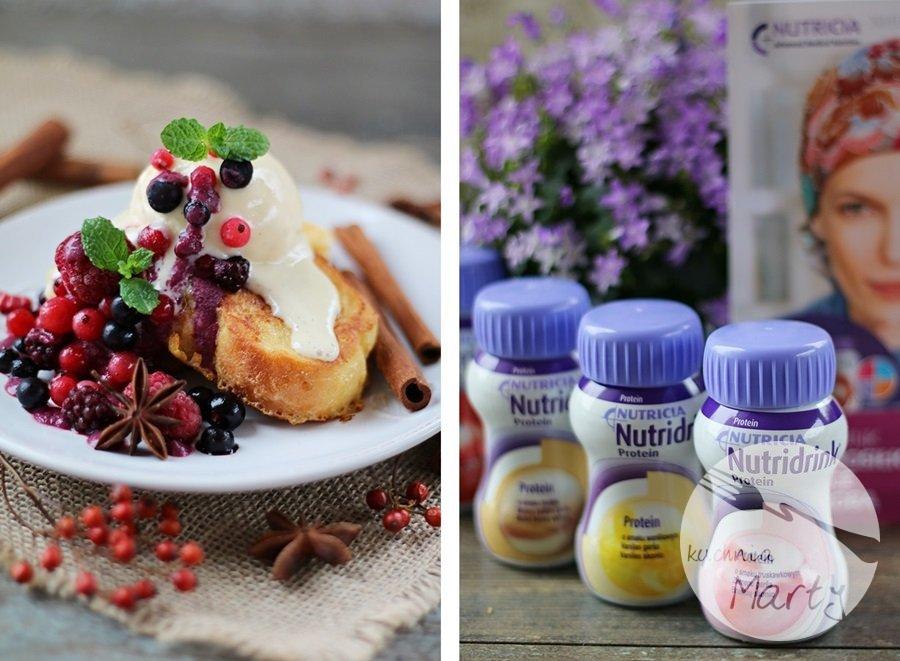 6251 horz - Tosty francuskie z sosem z owoców leśnych i lodami jogurtowymi