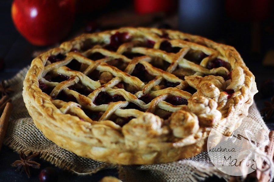 5233 - Korzenna tarta z jabłkami i żurawiną