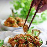 Panierowany kalafior w sosie słodko ostrym