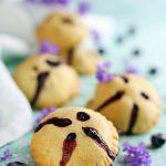 Kruche ciasteczka z borówkami