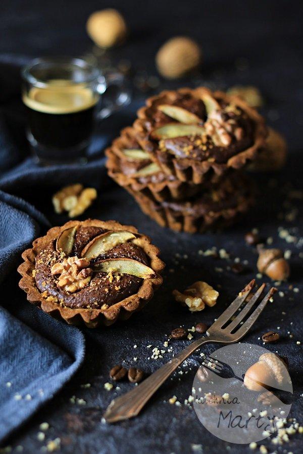 Tartaletki orzechowe z czekoladowym kremem