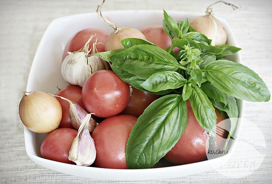 pomidory - Zupa krem z pieczonych pomidorów