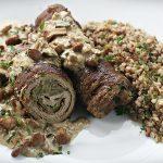 zrazy 150x150 - Sałatka z grillowanym serem halloumi i krewetkami