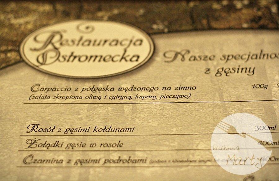 Czas na gęsinę w Restauracji Ostromecka