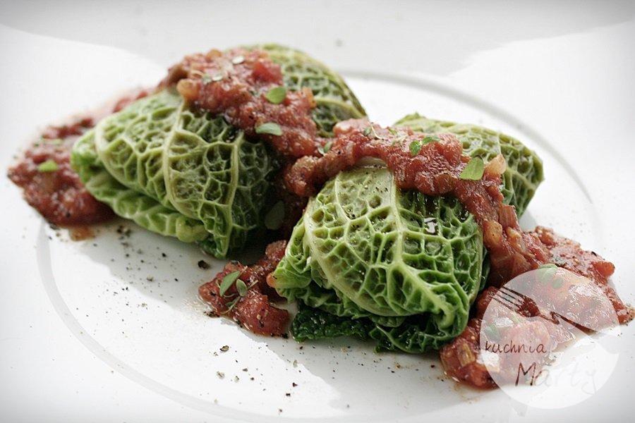 3085.900 - Pikantne gołąbki z soczewicą, papryką i sosem taco