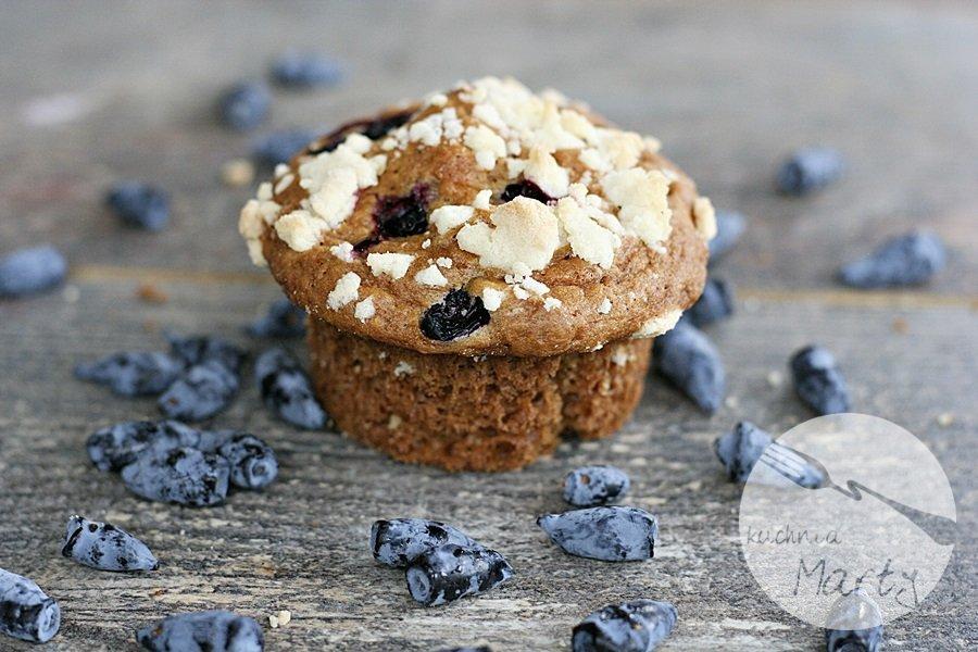 Jogurtowe muffinki z jagodami i kruszonką