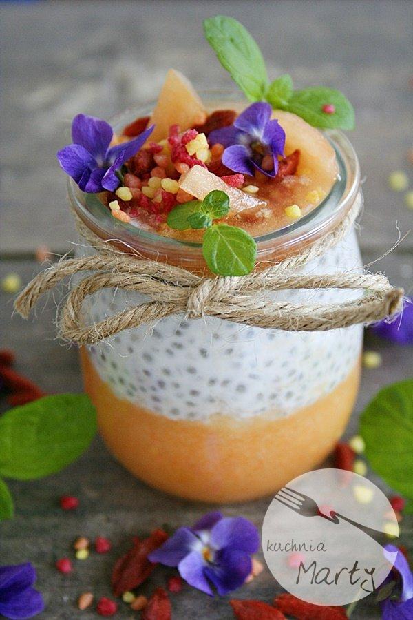 Pudding z chia z melonem