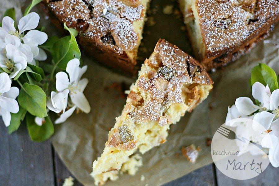 8427.900 - Jogurtowe ciasto z rabarbarem i jabłkami