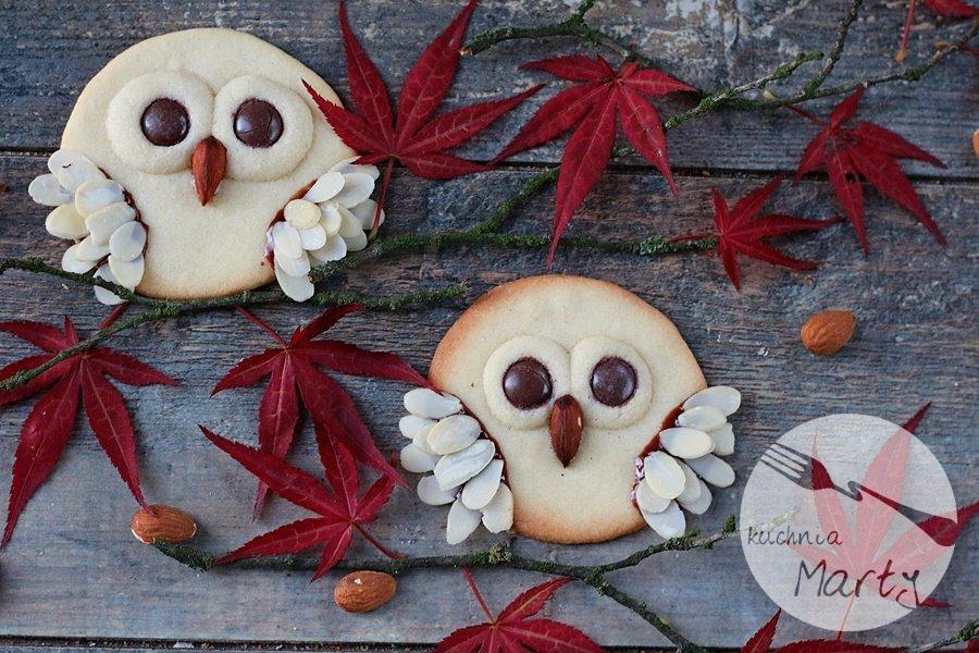 Maślane ciasteczka sowy