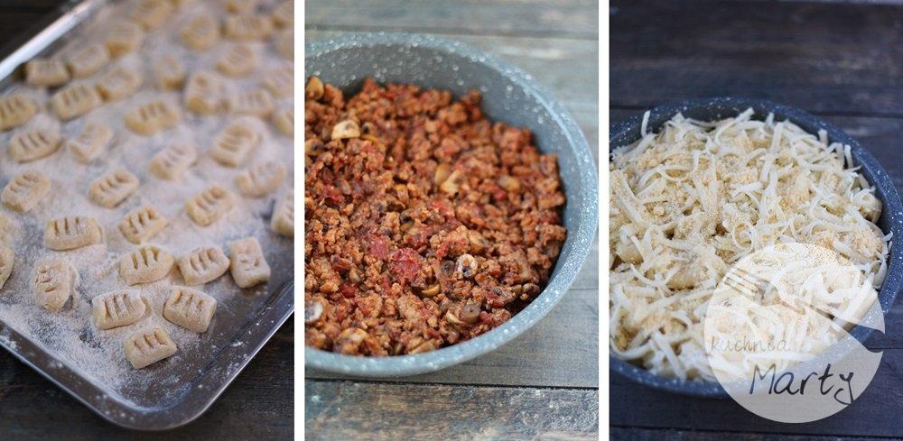 Gnocchi zapiekane z mięsem mielonym