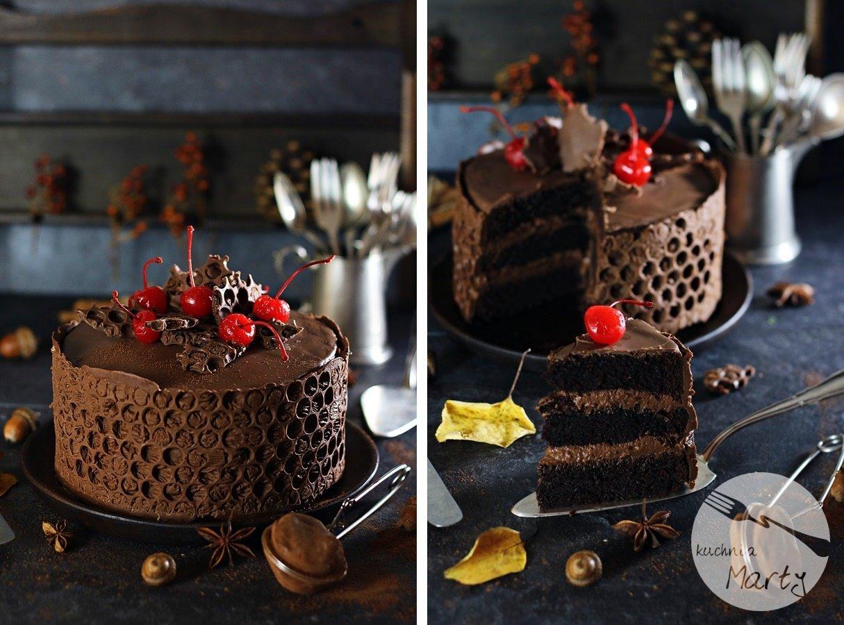 5020 900 ło - Tort czekoladowo wiśniowy