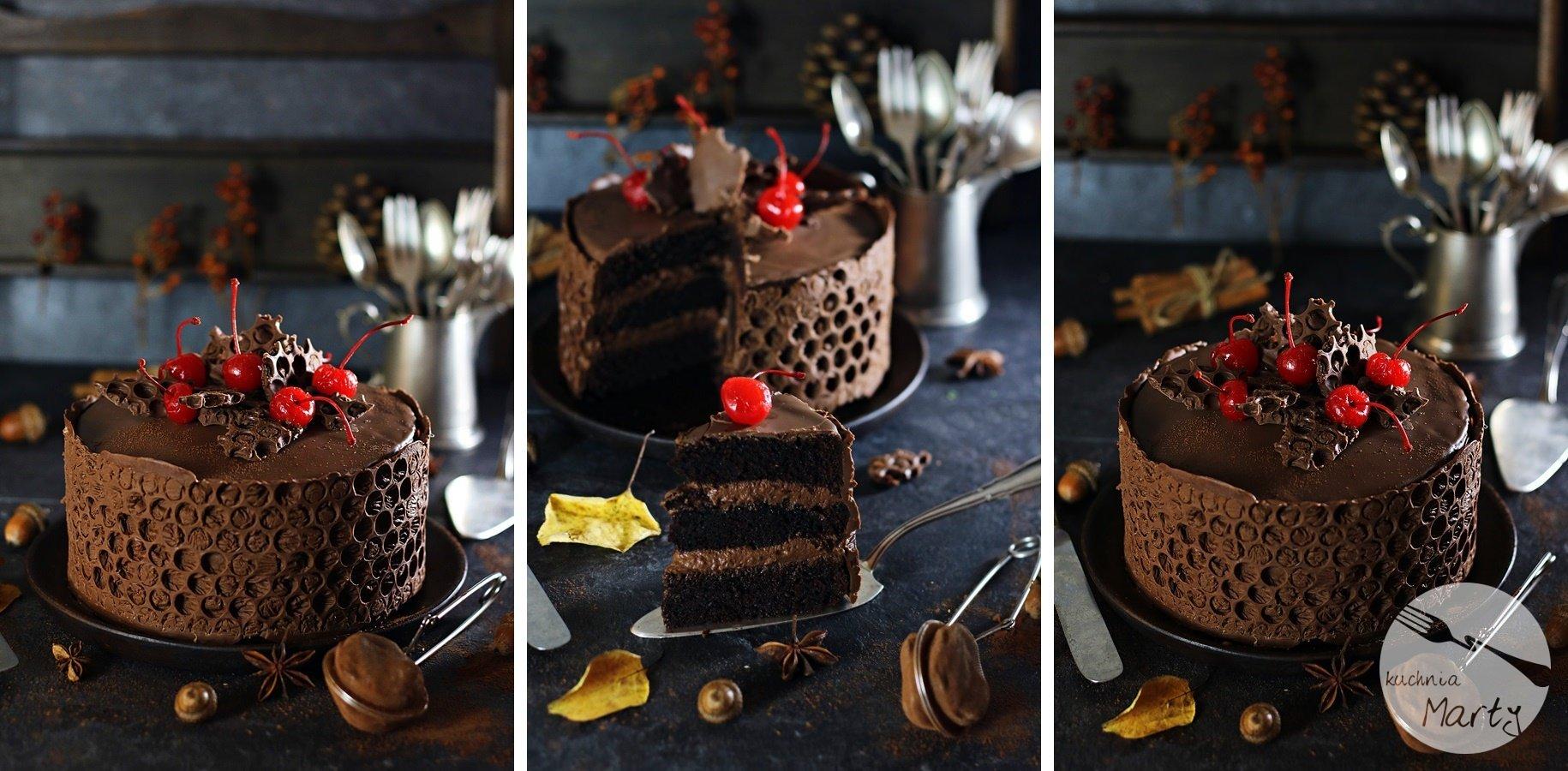5020 900 horz - Tort czekoladowo wiśniowy