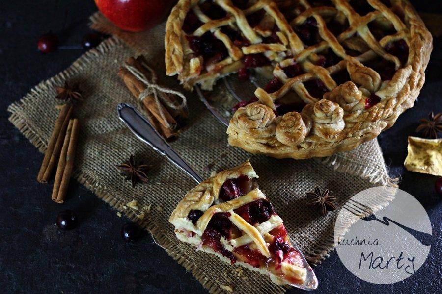 5271 - Korzenna tarta z jabłkami i żurawiną