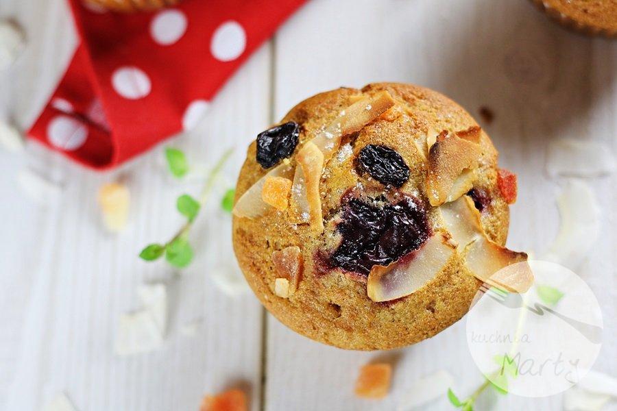 7434 - Orkiszowe muffinki z wiśniami