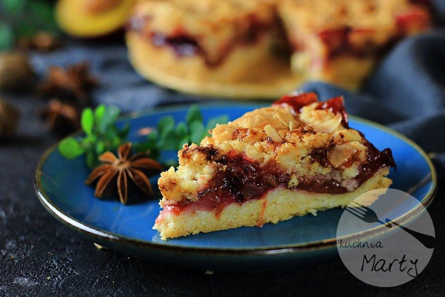 3915 - Kruche ciasto z karmelizowanymi śliwkami