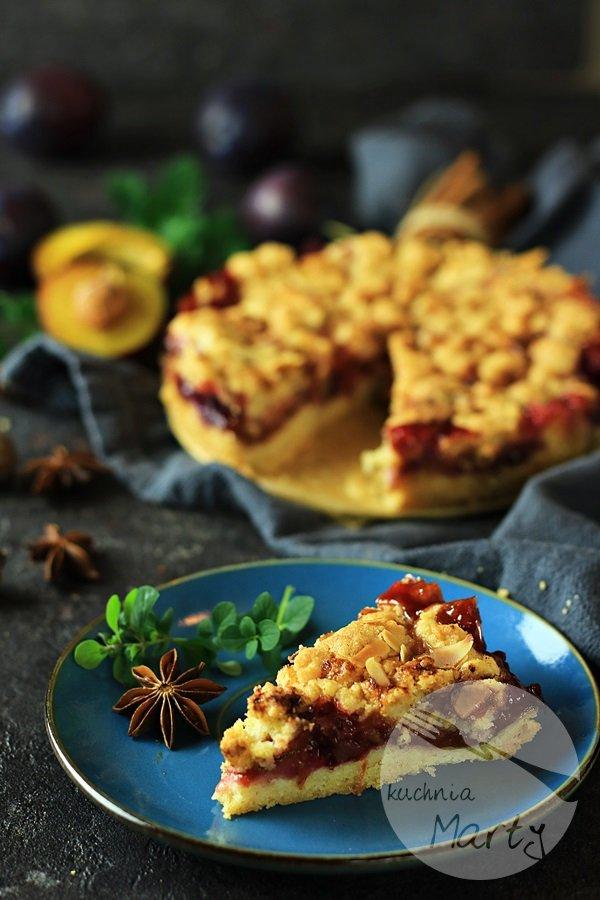 3916 - Kruche ciasto z karmelizowanymi śliwkami