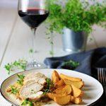 Filet z kurczaka w sosie porowym