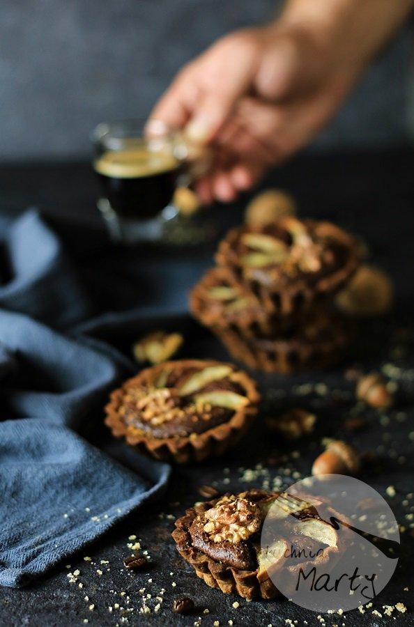 5036 - Tartaletki orzechowe z czekoladowym kremem