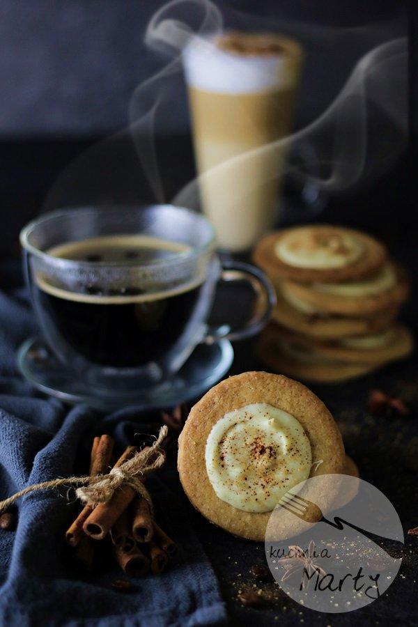 Ciasteczka kawowe z białą czekoladą