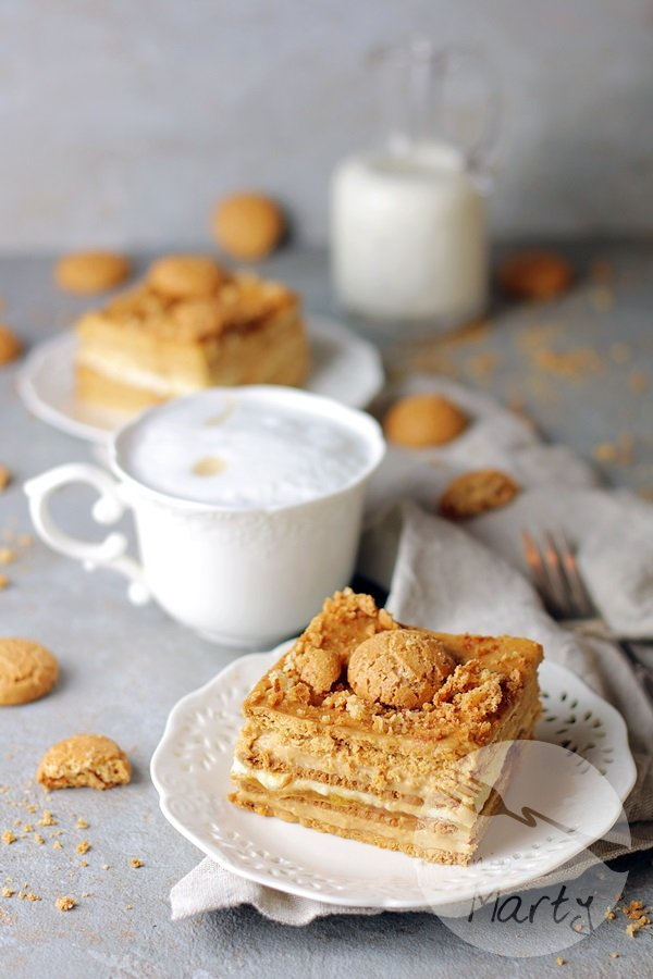 Ciasto kajmakowo budyniowe bez pieczenia