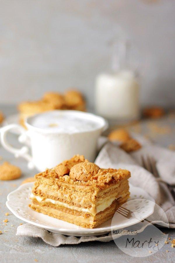 0045 - Ciasto kajmakowo budyniowe bez pieczenia