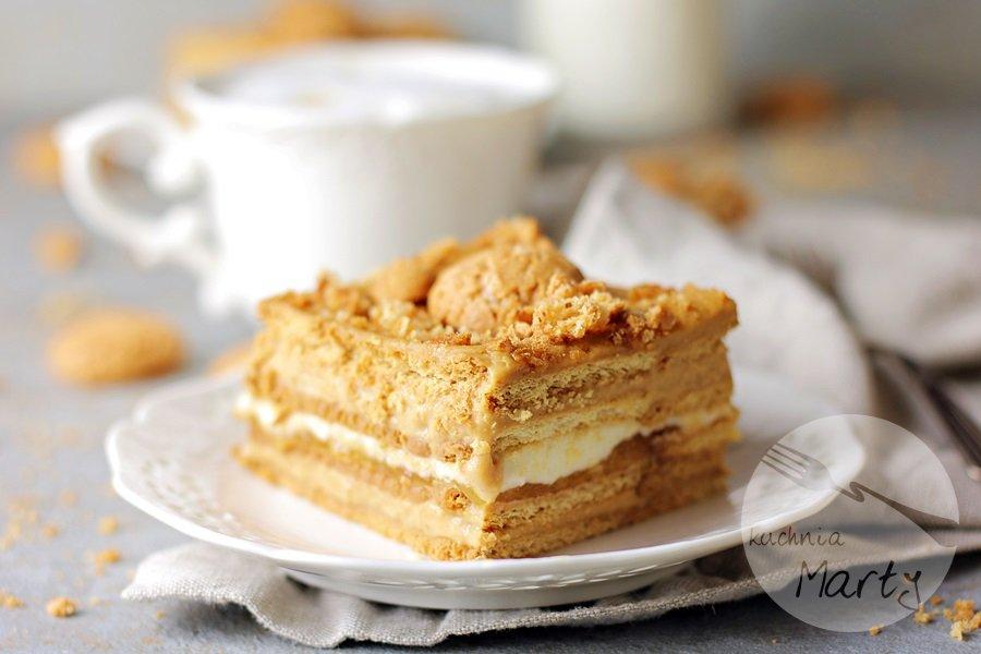 0064 - Ciasto kajmakowo budyniowe bez pieczenia