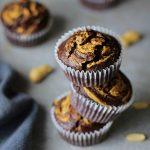 Muffinki czekoladowe z masłem orzechowym