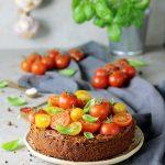 Sernik pomidorowo bazyliowy