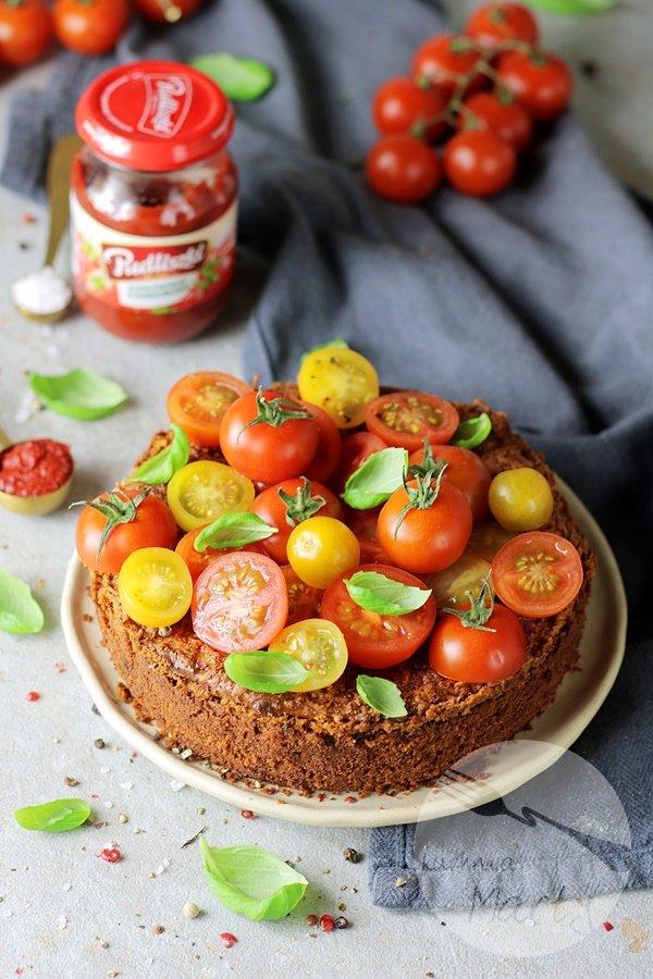 7614 - Sernik pomidorowo bazyliowy