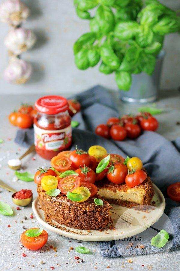 7707 - Sernik pomidorowo bazyliowy
