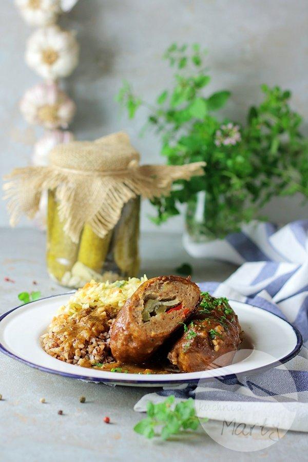 0123 - Roladki śląskie z mięsa mielonego