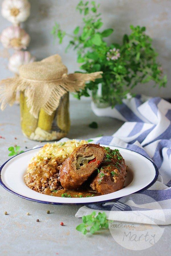 Roladki śląskie z mięsa mielonego