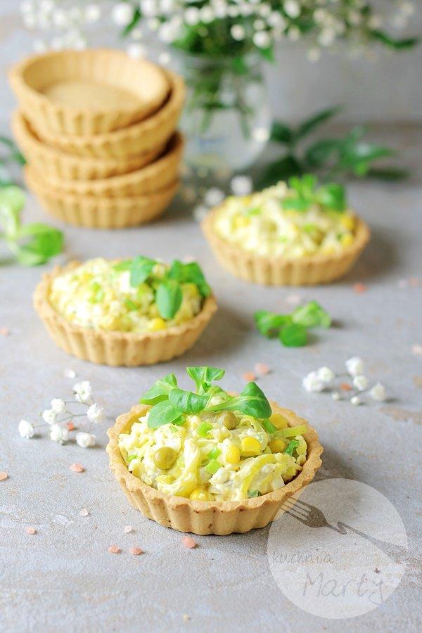 Tartaletki z sałatką z pora i jajek
